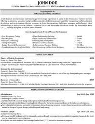 finance student resume best resume collection