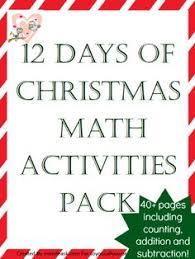twelve days before christmas workbook math activities phonics