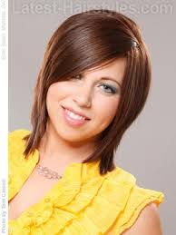 just above the shoulder haircuts with layers side swept cut this super cute cut is just above the shoulders