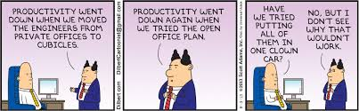 tips for surviving an open office business insider dilbert