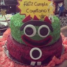 yo gabba gabba birthday cake3d cards 19 best batería images on conch fritters birthday cakes