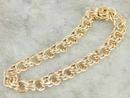 gold charm link bracelet images Charm bracelets vintage estate and antique jpg