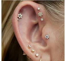 helix earing helix piercing jewelry information tips and jewelery information