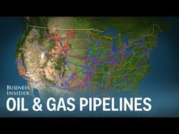 map of the major and gas pipelines in the us