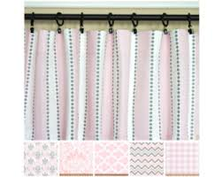 Gray And Pink Curtains Pink Curtains Etsy
