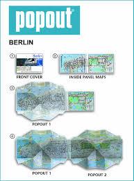 Up Map Berlin Popout Map Popout Maps Amazon De Popout Map