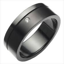 black stainless steel wedding rings this modern ring features a clean black steel design