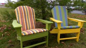 Porch Chair Cushions How To Make An Adirondack Chair Cushion Youtube
