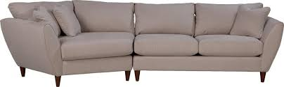 contemporary two piece sectional sofa with ras cuddler by la z boy