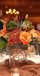 beautiful bridal fall wedding centerpieces rustic and romantic