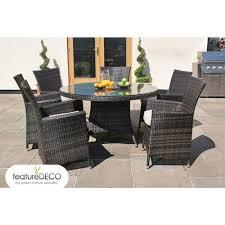 6 seater patio furniture set maze rattan la round table rattan garden furniture 4 6 and 8 seater