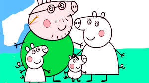 peppa pig coloring pages peppa pig family peppa coloring book