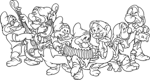 princess snow white coloring pages dwarfs snow white