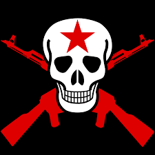 Flag With Ak 47 Clipart Skull And Crossed Guns