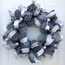 26 best black silver mesh wreaths images on deco