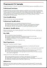 sample resume of pharmacist pharmacist sample myperfect example of