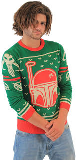 sweater wars wars boba fett green sweater xx large