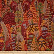 kaffe fassett collective feathers brown discount designer fabric