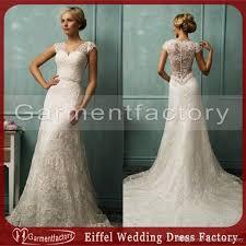 discount retro lace wedding dresses 2015 vintage a line slight v