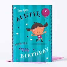 birthday card for you auntie only 59p