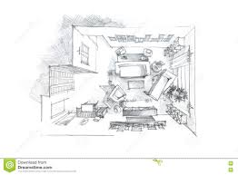Living Room Architecture Drawing Modern Living Room Sketch Carameloffers Drawing Of Living Room