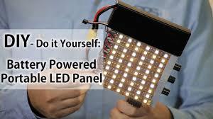 battery led light portable panel do it yourself diy youtube