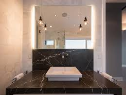 Bathroom Vanity With Waterfall Counter Design Ideas - Bathroom countertop design