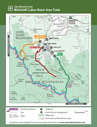 Mammoth Map Inyo National Forest All Trails Maplets