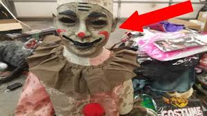 creepy clown found dumpster diving halloween store free expensive