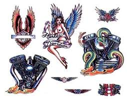 amazing harley tattoos designs