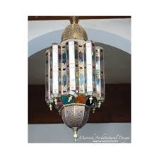 Morroco Style by Moroccan Style Colored Glass Lantern