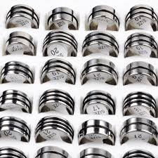 stainless steel rings for men 72pcs lot 2014 fashion stainless steel rings men women 1 2 3 black