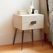 hayworth bedside table platinum linen west elm uk