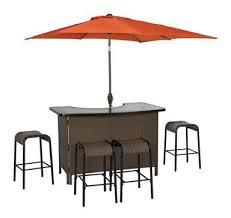 Patio Bar Table Living Accents Corona Wicker Bar 6 Set Outdoor Bar