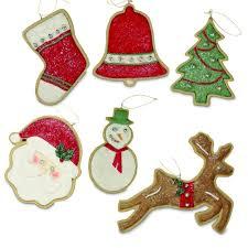 bethany lowe faux iced sugar christmas tree cookie 6 ornaments set