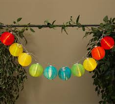 solar powered string lights led solar powered multi colored lantern string lights