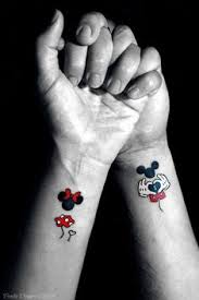 couple tattoo mickey mouse mickey and minnie mouse tattoo14 disney tattoos pinterest