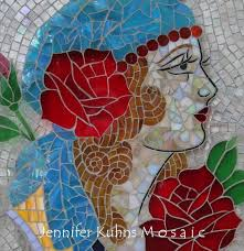 glass on glass mosaic for tattoo shop jk mosaic