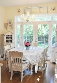 french country style dining room with wooden furniture french