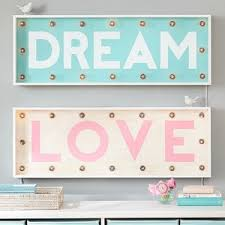 pottery barn teen lighting pb teen light up the town marquee lights pink love at pottery barn