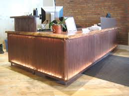 Rustic Modern Wood Furniture Commercial New Office Ideas Pinterest Reception Desks Desks