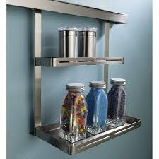 barre suspension cuisine etagère pour barre de crédence métal l 26 x h 30 cm leroy merlin