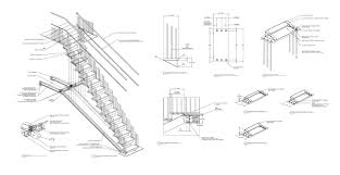 model staircase staircase construction drawing advanced detailing