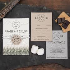 mountain wedding invitations rustic mountain cing wedding invitation suite wedding