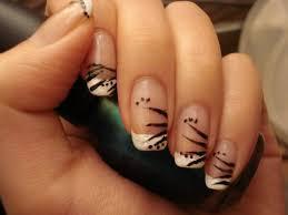 diy easy flowers on french tips nail art design tutorial youtube