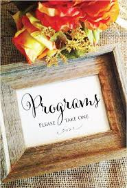 wedding program sign wedding program sign programs take one frame not included