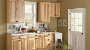 American Classics Hampton Natural Hickory Cabinets Used In The - Natural kitchen cabinets