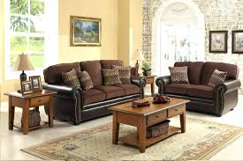Leather Cloth Sofa Brown Leather And Fabric Sofa Ipbworks