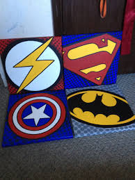 canvases i made for super hero room for the boys wallart art