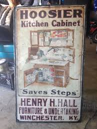 Metal Kitchen Cabinets Ebay by Large Antique Original Hoosier Kitchen Cabinet Metal Tin